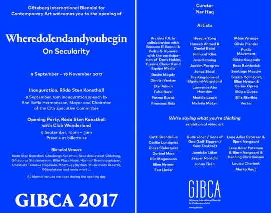 Göteborg International Biennial for Contemporary Art