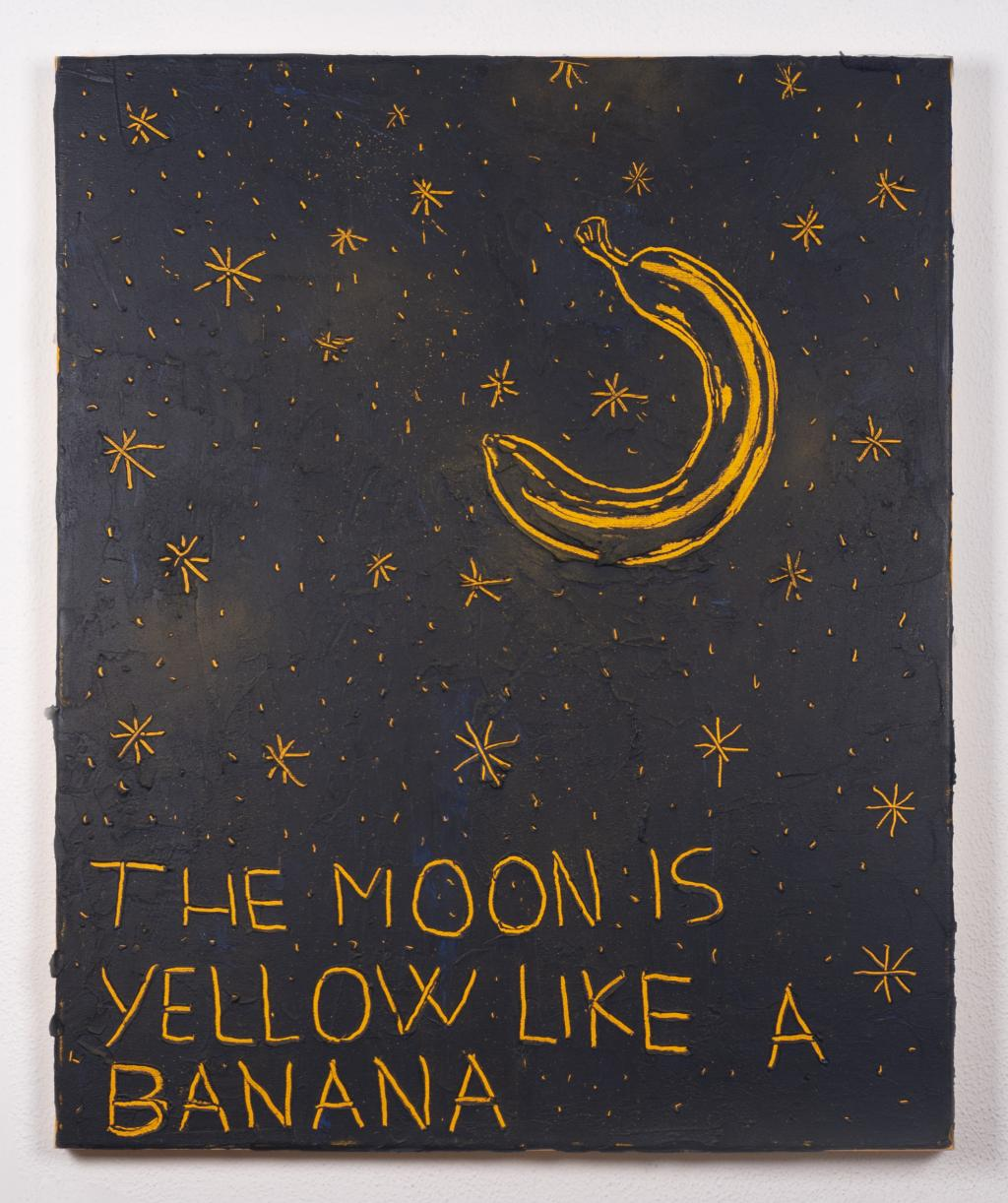 The moon is yellow like a banana 1