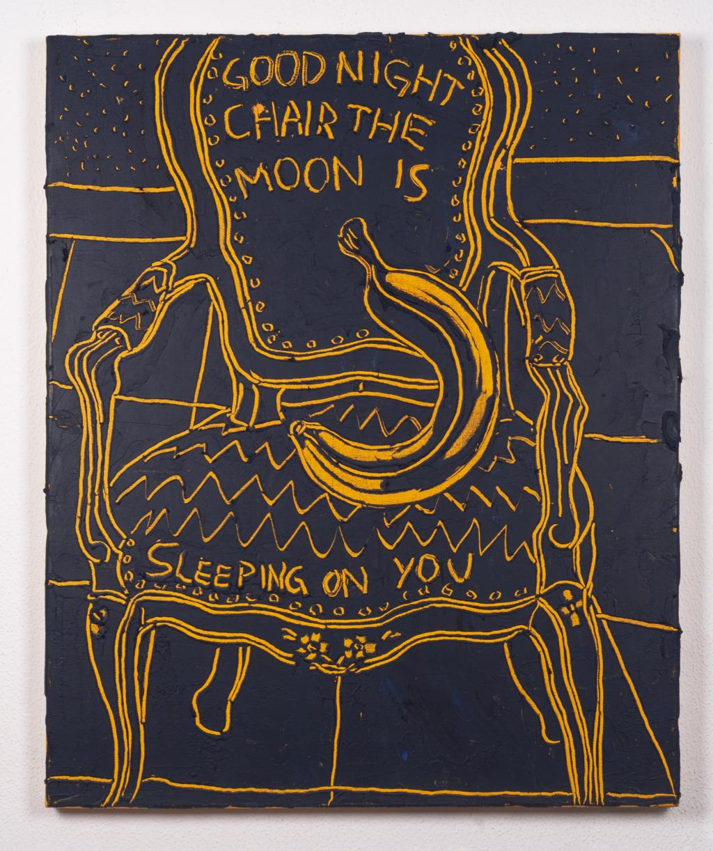 Good night, chair - the moon is sleeping on you