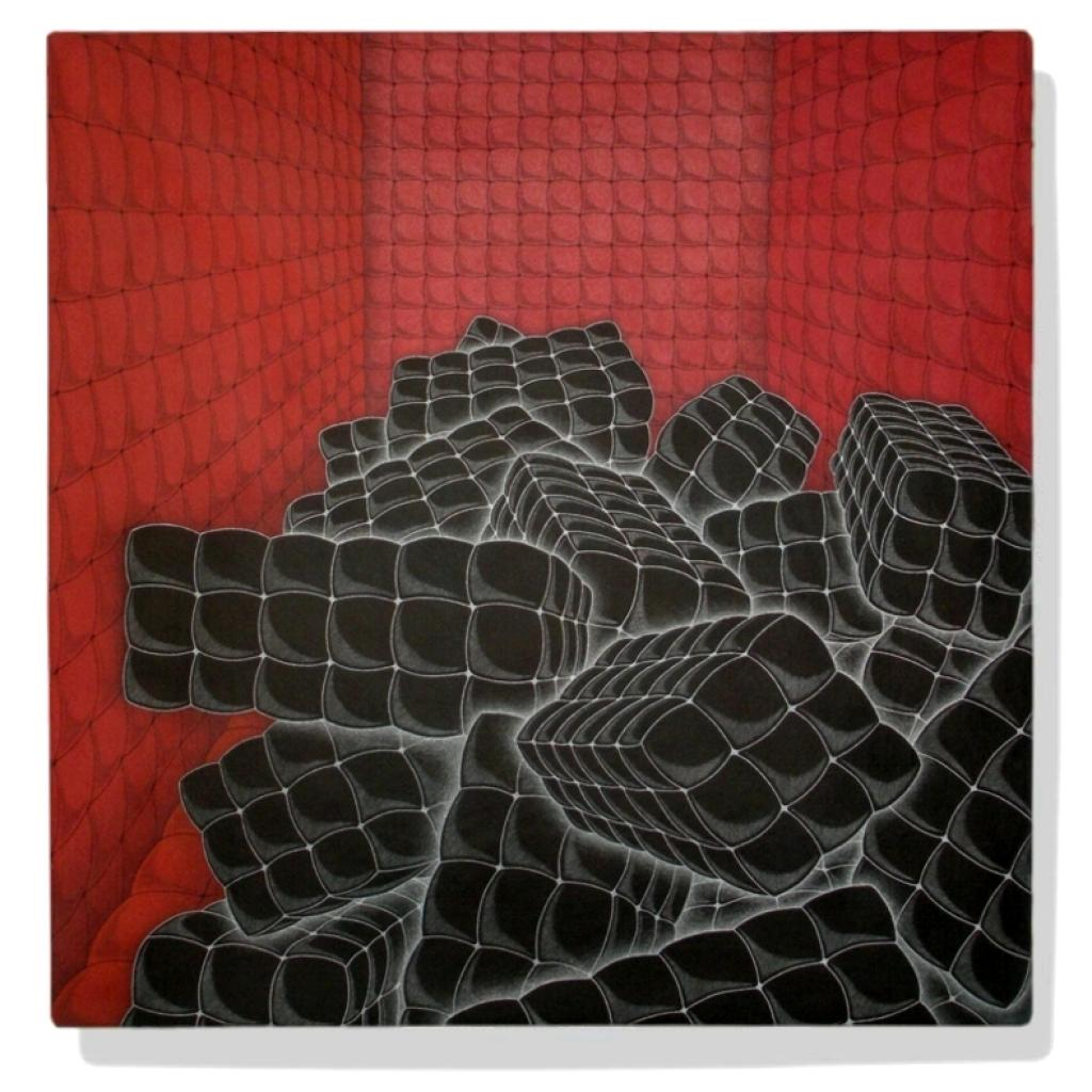 senza titolo (black pillows and red room)